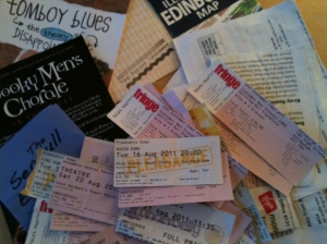 Tickets and programmes, Edinburgh 2011
