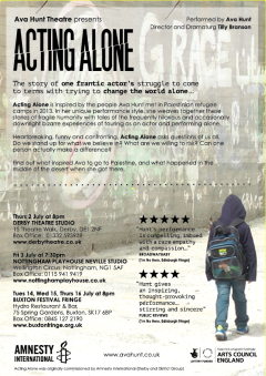 Acting Alone flyer back